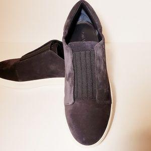 Vince Cantara Navy Blue Suede Slip On Sneakers